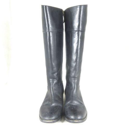 bde9c34295a 10 - Tory Burch Kiernan Tall Nice Black Leather Riding Equestrian Boots  1021EM
