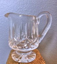 "Vintage Footed Crystal Creamer 4"" HEAVY - $29.40"