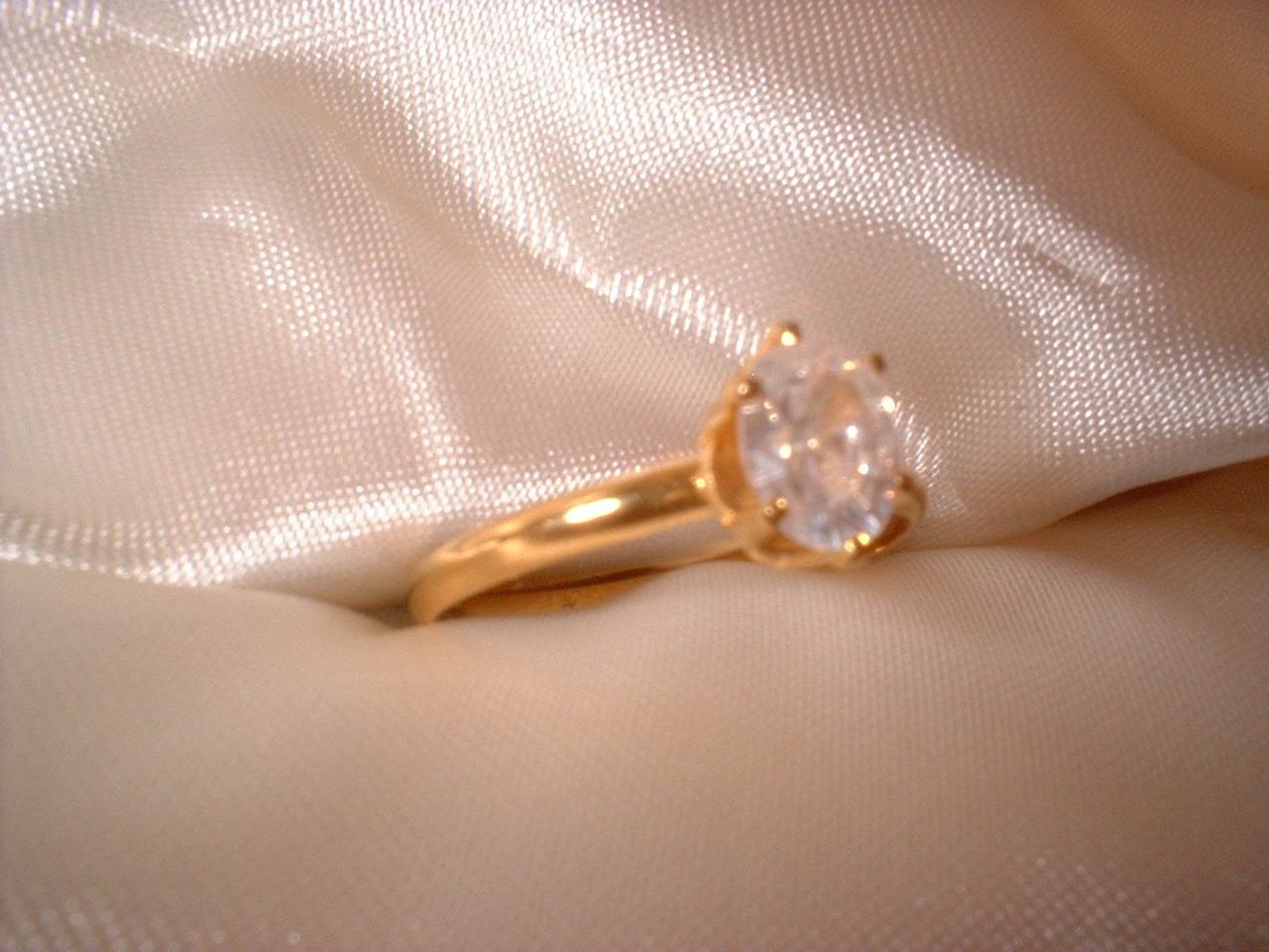 Oval Crystal  Ring Size 8 Bargain Bin Under $10.00