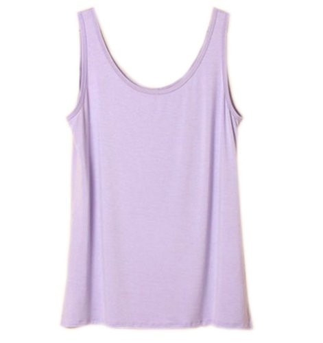 Simplicity Soft Zenana Women's Active Cami Camisole Cotton Basic Tank Top Purple