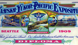 Intricate Litho! Exposition Crate Label, 1920's  - $5.95