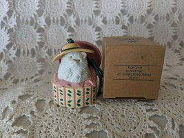 Avon Dress Up Ornament Hat Box Ornament - $7.75