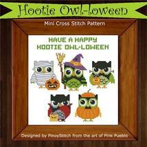 Hootie Owl-loween halloween cross stitch chart Pinoy Stitch - $7.20