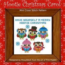 Hootie Christmas Carol owl cross stitch chart Pinoy Stitch - $7.20