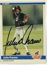 1984 Fleer JULIO FRANCO # 542 Rookie RC Autograph Card Cleveland Indians... - $37.16