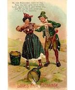 Loves Fair Exchange Vintage Post Card  - $5.00