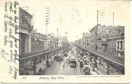 The Bowery New York City 1904 Vintage Post Card - $7.00