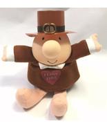 "Happy Thanksgiving Ziggy Plush I Love Thee Hat Pilgrim 6"" Stuffed Animal... - $18.80"