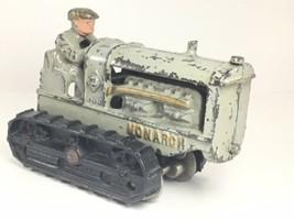 Rarely Seen Antique Cast Iron Toy Hubley Monarch Bulldozer - $979.99