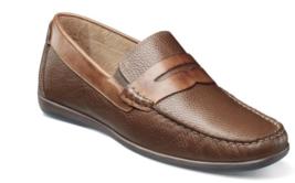 Florsheim Intrepid Moc Toe Penny Driver Shoes Cognac Tumbled 13324-222 new - $99.99