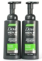 2 Bottles Dove 13.5oz Men Care Extra Fresh Micro Moisture Instant Foam Body Wash - $24.99