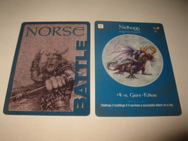 2003 Age of Mythology Board Game Piece: Norse Battle Card: Nidhogg - $1.00