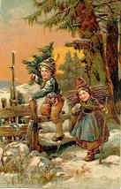 Christmas Greetings Paul Finkenrath vintage 1908 Post Card - $8.00