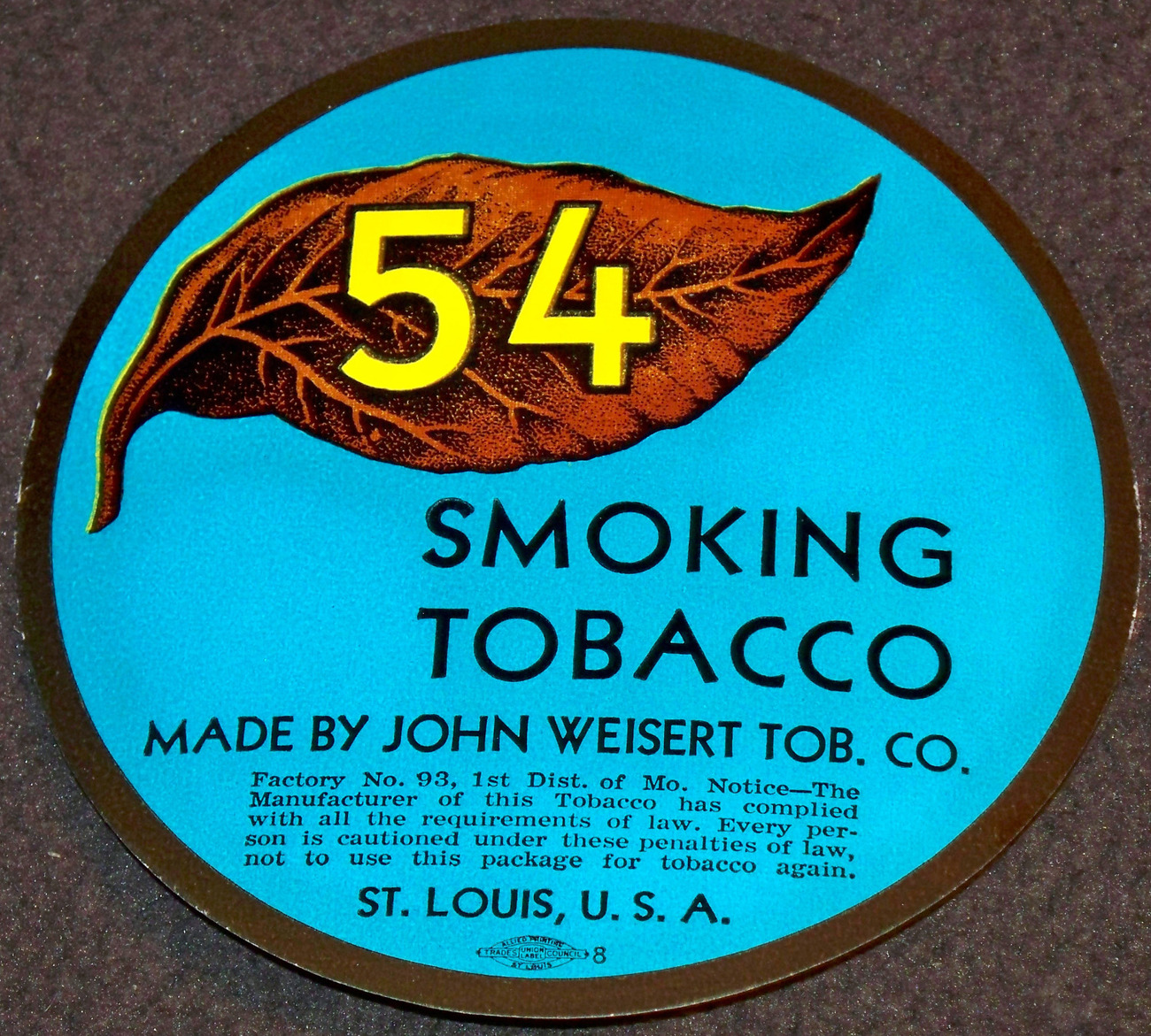 Redo 54 tobacco label 001