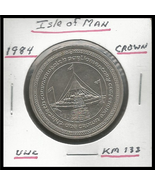 """1984, Isle of Man: Commemorative Crown,""""30th Parliament Conference"""" Coin - $3.40"""