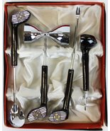 'Golf Club Handle Boxed c.1950's 4pc Fifth Ave Bar Set as New in Box!' - $250.00