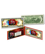 YEAR of the MONKEY - Chinese Zodiac Official $2 U.S. Bill RED POLYCHROME... - ₹981.43 INR
