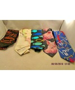 RM Style Men's ties Lot of 5 Florida Map, Pink Pigs, NBA, Fish & Coffee ... - $23.12