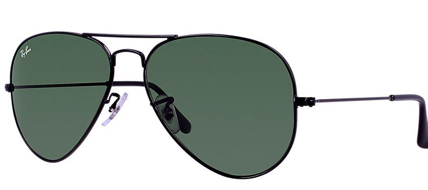 51869ec60e Rb3025 l2823 1. Rb3025 l2823 1. Ray-Ban Aviator RB3025 L2823 Black with  Green G15 Lenses 58mm Sunglasses ...
