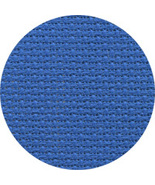 Bright Blue 18ct Aida 18x25 cross stitch fabric... - $9.25