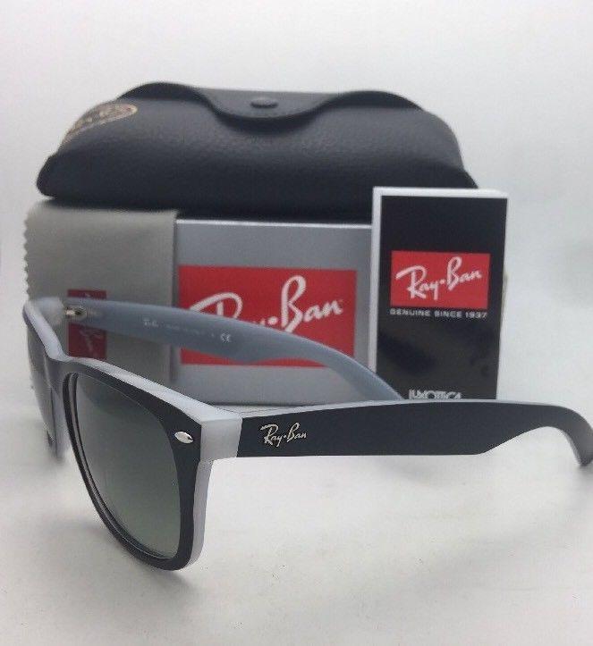 eaa9d90d2a RAY-BAN Sunglasses RB 2132 6309 71 52-18 NEW WAYFARER Black on Opal Ice w   Grey