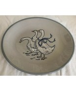 Louisville Stoneware Pottery Gaggle Of Geese Pattern Serving Platter Ova... - $29.99