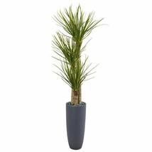 Chic Multicolor 6' Yucca Artificial Tree in Bullet Planter - 6 Ft. - $430.47