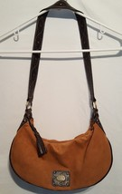 Fossil Suede Leather Handbag Small Shoulder Bag Purse Brown Fall Fashion - $15.98