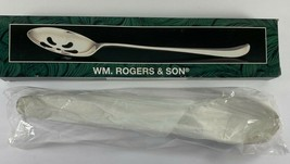 Vintage 1997 WM. Rogers Son Silverplated 12.5 in Pierced Stuffing Spoon ... - $22.76