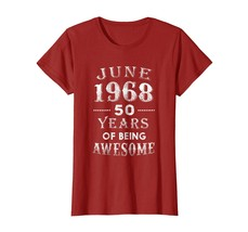 Uncle Shirts -   June 1968 Shirt-50th Birthday Gift Idea For Men And Wom... - $19.95+