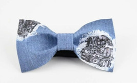 MECHANICAL DESIGN BLUE BOW TIE Free Style Nice Gift Good for Causal Part... - $26.99