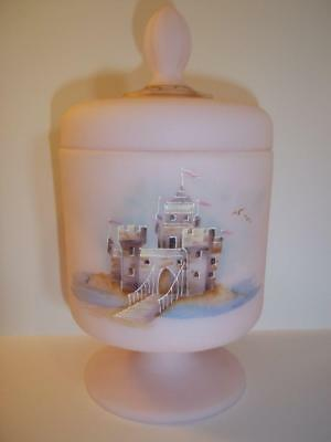 Fenton Glass Pink Satin Bling Princess & Castle Chessie Cat Box Ltd Ed #1/11