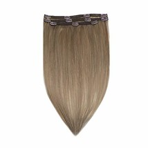 RUNATURE Clip in Human Extensions Real Brazilian Clip Extensions 20 Inches, 3pcs image 1