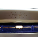 VINTAGE 14KT GOLD BRACELET SEIKO LADIES QUARTZ WATCH RUNS FOR YOU TO FIX... - $495.00