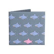[Cool Shark] Light Thin Short Women&Men Wallet Cotton Canvas Wallet/Purse