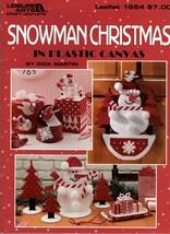 Snowman Christmas In Plastic Canvas Leaflet 1654 Candy Box Door Decor St... - $7.50