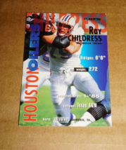 Houston Oilers, Ray Childress #145, Vintage FLEER, Collectible Card - $0.90