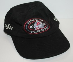 Baseball Cap Stanley Cup Playoffs 2002 Colorado Avalanche Black Strapback - $19.34