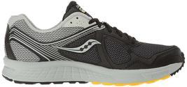 Saucony Uomo Nero/Grigio/Giallo Cohesion 10 Corsa Runners Scarpe Sneaker Nib image 3