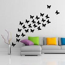( 39'' x 35'') Vinyl Wall Decal Flock of Butterflies / 24 pcs of Butterfly Home  - $43.00