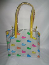 DOONEY & BOURKE MEDIUM SHOPPER TOTE HANDBAG CLEAR  MULTICOLOR DUCK MJDUCKYL - $54.45