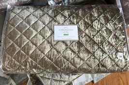 Pottery Barn Nia Velvet Quilt Bronze Queen 2 Standard Sham Diamond Brown $368 - $284.91