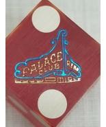 Vintage PALACE CLUB Casino Craps Dice Die Reno Nevada NV Rare - $9.89