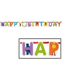 Elmo Sesame Street Jumbo Letter Banner Customizable Happy Birthday 10 Foot New - $9.85