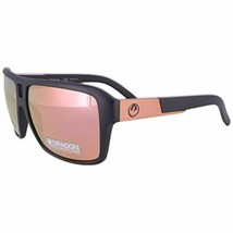 NEW Dragon DR The Jam LL 037 Matte Black Sunglasses with Rose Gold Mirro... - $138.55