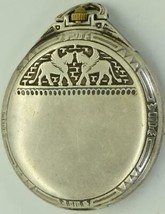 WOW! Unique antique Art-Nouveau Longines Egyptian Revival silver pocket watch - $2,990.00