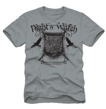 Game of Thrones TV Series Night's Watch Oath Light Grey T-Shirt, NEW UNWORN - $16.21