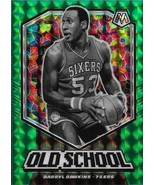 Darryl Dawkins Mosaic 19-20 #10 Old School Green Mosaic Prizm Philadelph... - $1.75