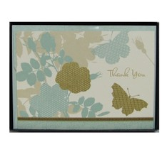 Hallmark Meadow Butterfly Thank You Cards With Envelopes Blank TYN7100 1... - $9.89