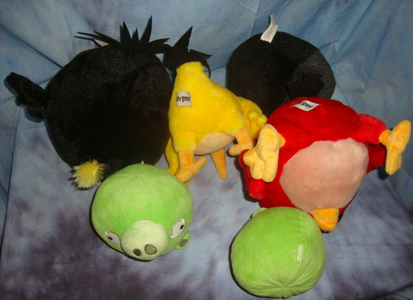 Angry Birds Lot Stuffed Animals Green Pigs Plush Toys  FLAW! SMELL!!!!